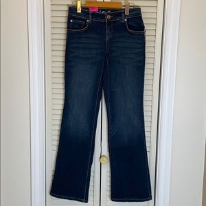 INC International Concepts curvy fit bootleg jeans
